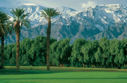 Scenic view of Furnace Creek golf course.
