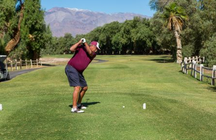 Player on the course