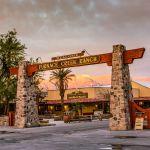 Ranch entryway at dawn