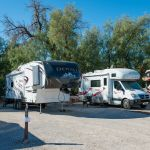 RVs parked at Fiddlers' Campground