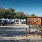 Fiddlers' Campground sign