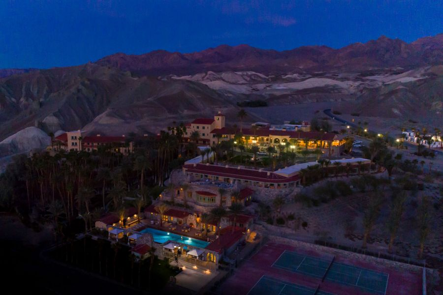 Aerial of The Inn at Dusk