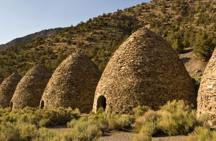 The Death Valley Charcoal Kilns were used to create charcoal for local mining operations.