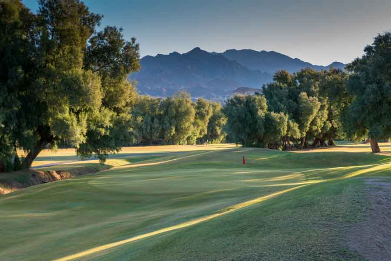The Furnace Creek Gold course.