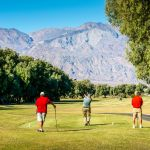 Players on Furnace Creek Golf Course