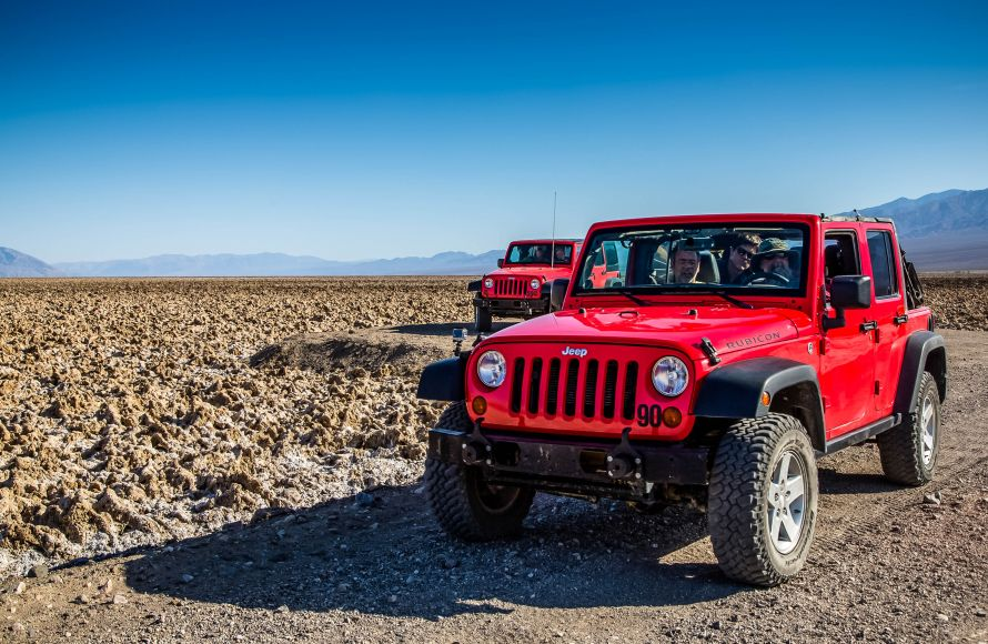 Jeep at Death Valley