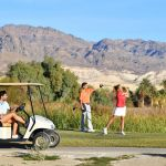 The Furnace Creek Golf Course at Death Valley